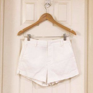 Forever 21 White High Rise Textured Shorts